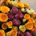 Букет 35 кустовых роз в корзине с доставкой в Самаре