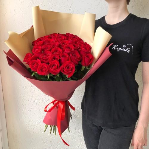 Букет 33 красные розы с доставкой в Самаре