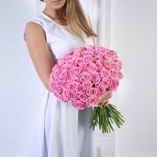 Букет 51 розовая роза с доставкой в Самаре