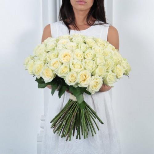 Букет 51 белая роза с доставкой в Самаре