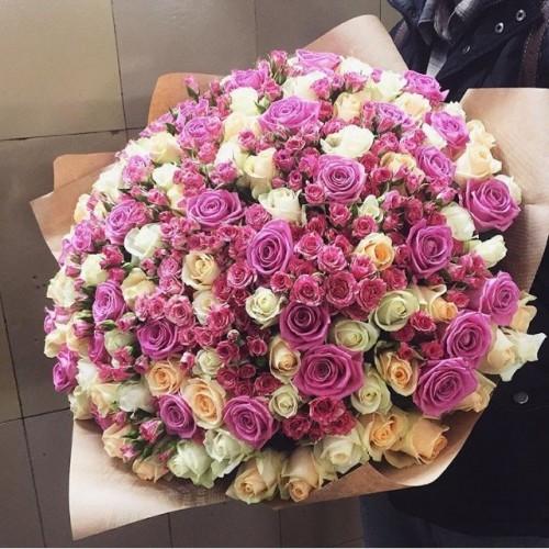 """Букет 101 роза """"Мега""""с доставкой в Самаре"""