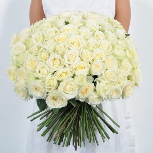Букет 101 белая роза с доставкой в Самаре