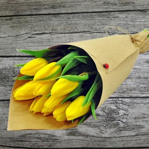Букет 9 тюльпанов  с доставкой в Самаре