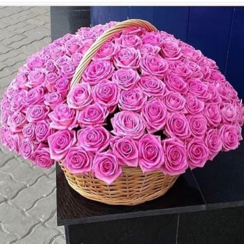 Букет супер - 101 роза в корзине  с доставкой в Самаре